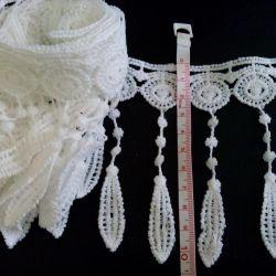 Lace with fringe