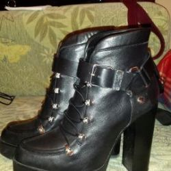 Women's leather boots Zara 37 r