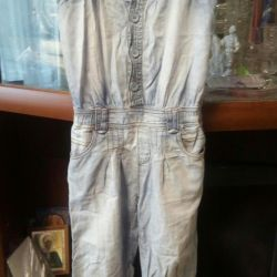 Комбинезон резервед джинсовый рост 98-104