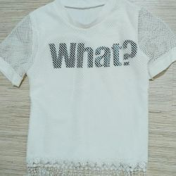 T-shirt 44 white new with a fringe