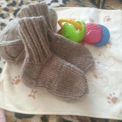 Warm socks made of natural yarn to order