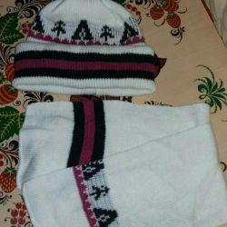 Children's set hat + scarf