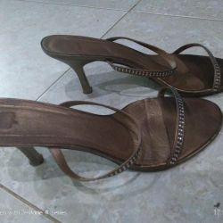 Sandals leather. 39,5r