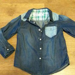 👕 Denim shirt for 110
