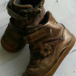 Leather boots, size 26
