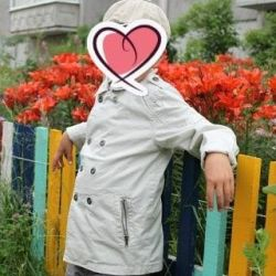 trench coat, summer coat, windbreaker, raincoat p 128-130 cm
