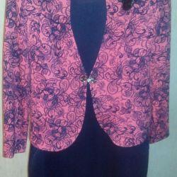 Платье+пиджак р.50_распродаю много новой одежды
