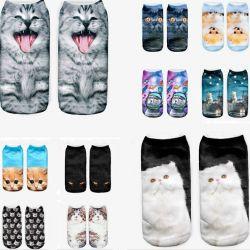 3D κάλτσες-γάτες. Παγκόσμιο μέγεθος