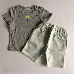 Pantaloni scurți noi și tricou băiat 78-90 cm