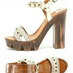 Sandals from genuine leather.