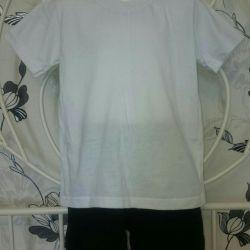 T-shirt + pantaloni scurți pentru grădiniță 110-116