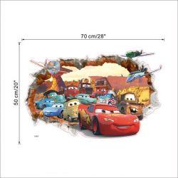 Interior sticker Cars 3D