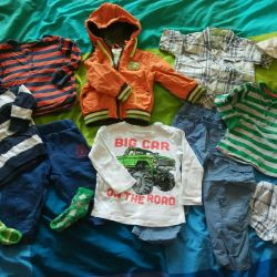 Package of clothes and shoes for a boy