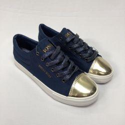Pantofi albi cu nas auriu