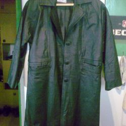 Women's leather raincoat from the 90s.