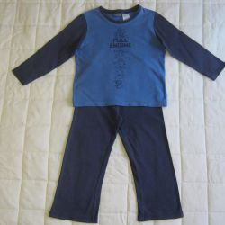 Pajamas for children with sleeves and trousers 102-110