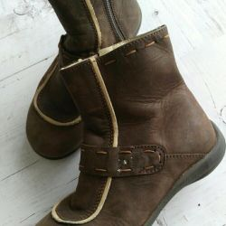 Leather boots, ankle boots, size 29
