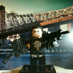 Punisher Marvel figürü Lego