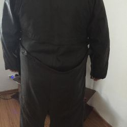 Men's Cloak! Genuine Leather