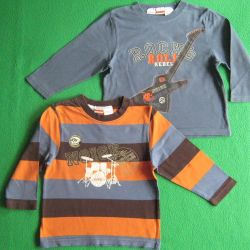 Children's T-shirt with long sleeves 92 -94