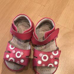 Sandalele au cusut piele de 20 de dimensiuni