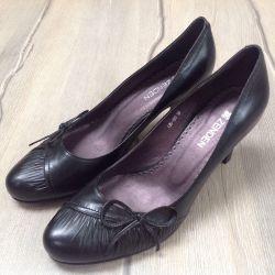 Second-hand pantofi de vară pe o călcâie de 7,5 cm, 37,5-38,0