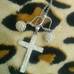 Крест и серьги