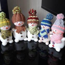 Snowmen, handmade