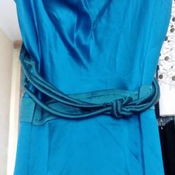 Φόρεμα χρώμα μεταξωτή φύση για 2 φωτογραφίες
