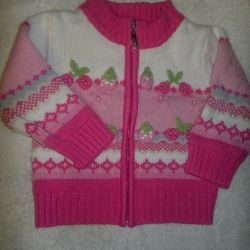 Cardigan with a zipper.