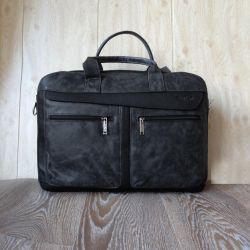 Мужская кожаная сумка. Россия