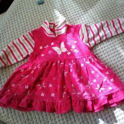 Velor dress for 8-12 months