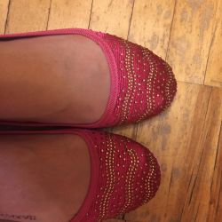 Ballet flats with sparkles new