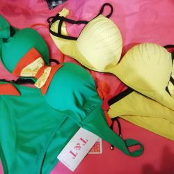 New swimwear with push up. There are sizes.