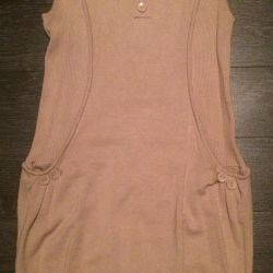 Dress Tunic (beige and white)