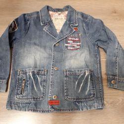 Пиджак джинсовый мариквита р-110 мальчику