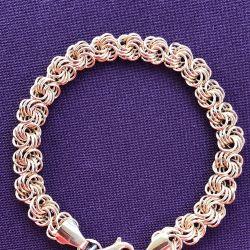 Golden female rose bracelet