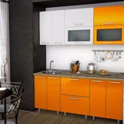 Πλήρης κουζίνα Πορτοκαλί 180cm