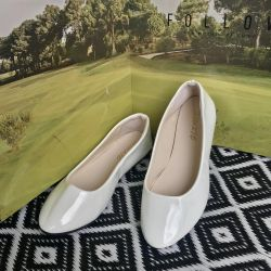 Glossy white ballet flats 35 New