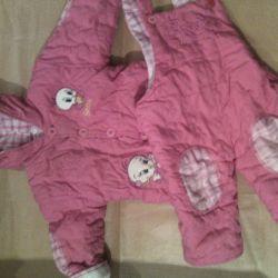Çocuk sıcak takım elbise