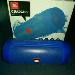 New jbl charge 2+ blue (usb, fm, bluetooth)