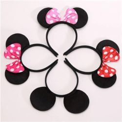 Head accessory: bezel with Minnie and Mikk ears