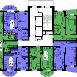 Apartment, 3 rooms, 77.1 m²