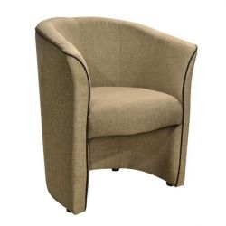 BANNY ARMCHAIR WITH HONEY BEIGE & RELIEY PU COFFEE HM30