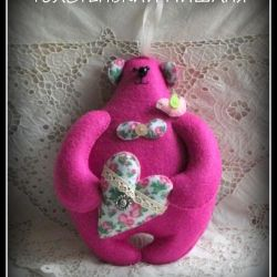 Teddy bear TOLSTYKAYA Mishaniya of felt