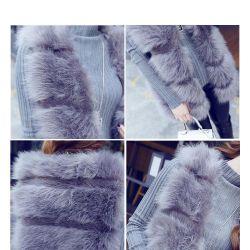artificial fur vest