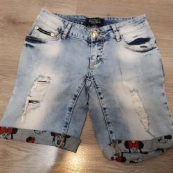 Denim shorts for a teenage girl