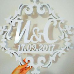 Making wedding emblems and monograms