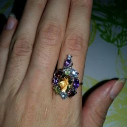 New Ring Mix with Large Citrine