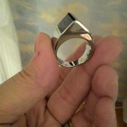 Кольцо мужское стальное